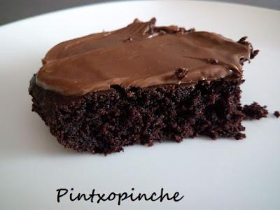 CRAZY CAKE O BIZCOCHO DE CHOCOLATE SIN LECHE, SIN MANTEQUILLA, SIN HUEVOS Y CON QUINOA
