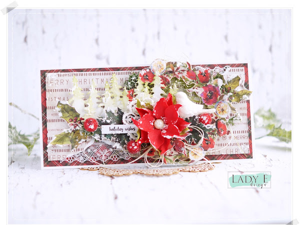 Christmas Card with Foamiran Poinsettia