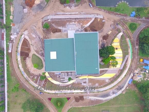Pembangunan Taman Gedung Carro - Pusjatan