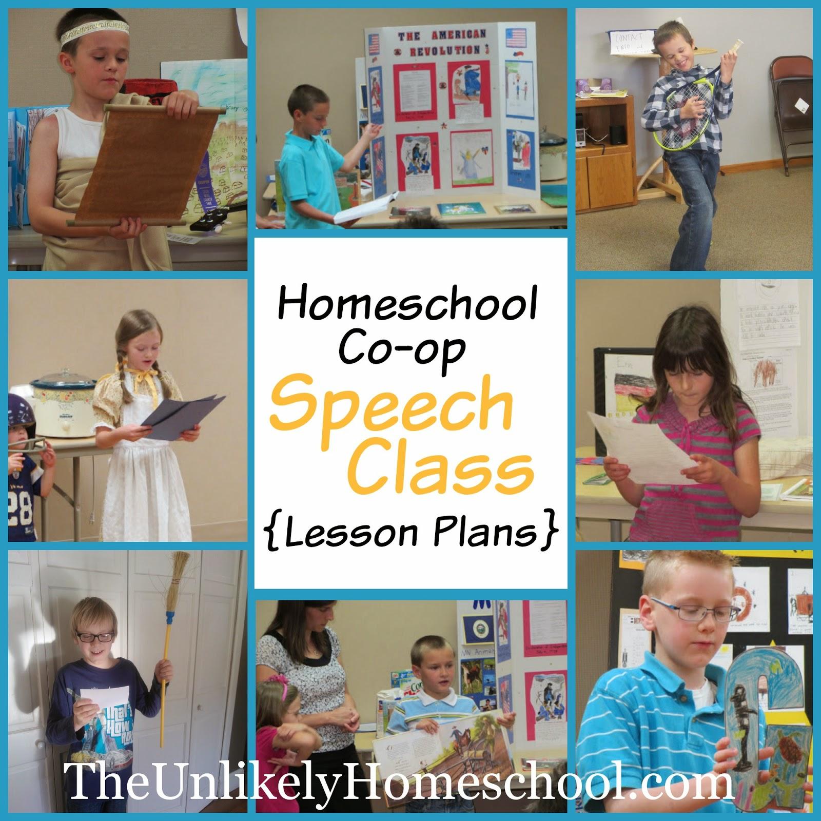 Homeschool Co-op Speech Class {Lesson Plans} The Unlikely Homeschool