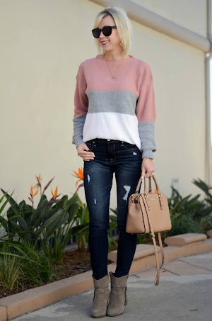 dbf73b2b88fb7a Colorblock Sweater + Louis Vuitton Look for Less