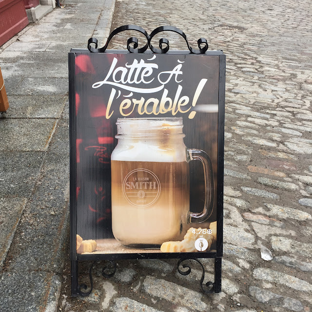 maple syrup latte sign,Quebec City, Canada