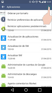 Problema de memoria llena en smartphones Android apps