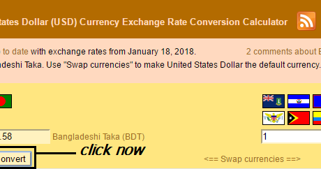 Deshi Taka Bdt And United States Dollar Usd Currency Exchange Rate Conversion Calculator Health Tips