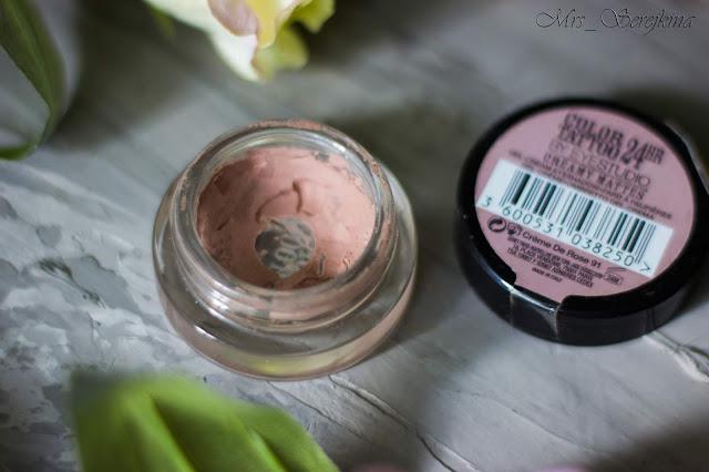 Повседневный макияж бюджетной косметикой: кремовые тени Maybelline Color Tattoo в оттенке 91 Creme De Rose