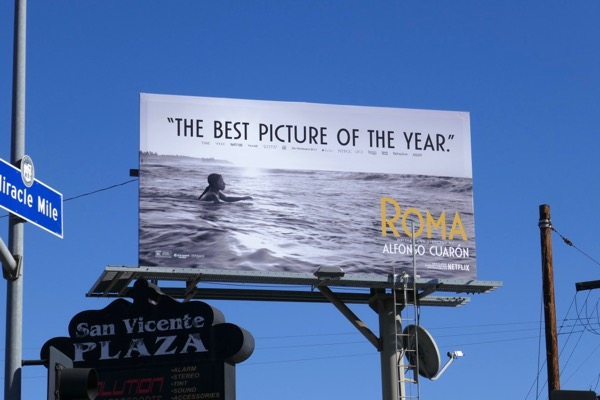 Roma best picture billboard