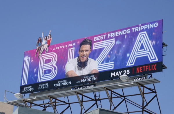 Ibiza film extension cut-out billboard