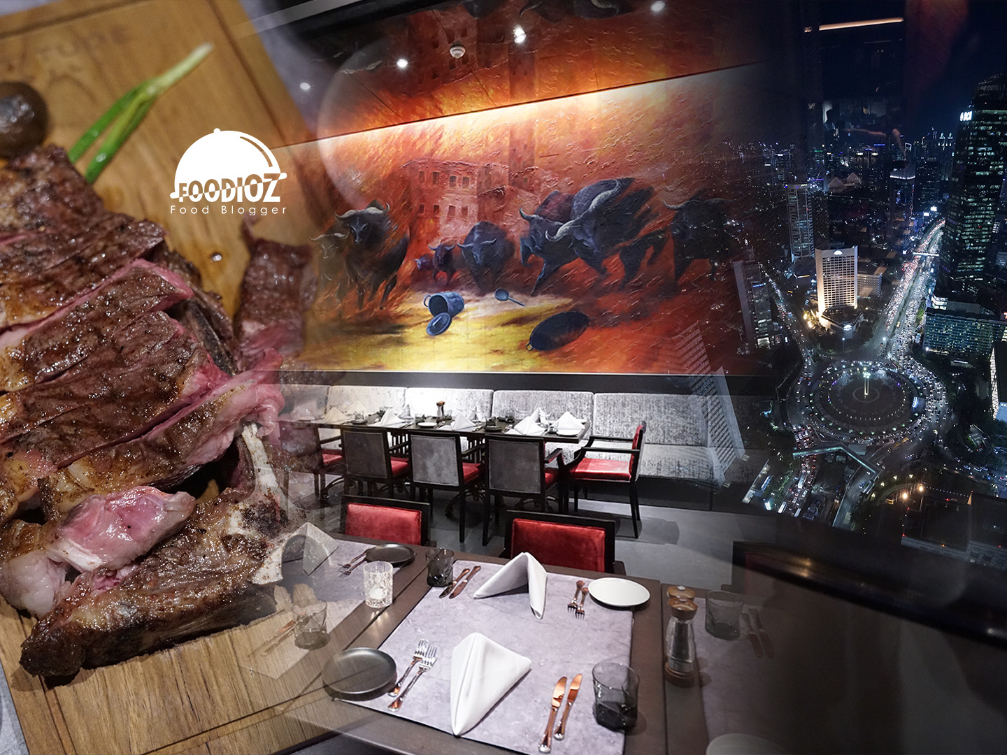 The place is nicely furnished, the lights are dimmed, the waitress are friendly. Altitude Grill The Plaza Jakarta Pusat