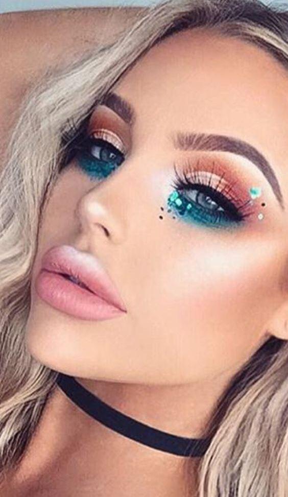 Glitter Makeup Idea