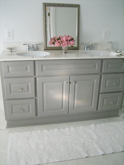 Standard Bathroom Vanity Height: Ten June: DIY Custom Painted Grey Builder/Standard