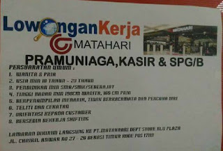 Matahari Mall Bekasi