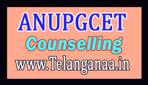 ANUPGCET PG  Diploma Course Counselling Dates 2016 Download