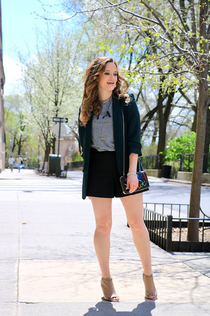Nyc fashion blogger Kathleen Harper showing how to wear shorts like a grownup