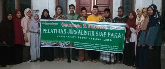 Ponpes Nurul Yaqin Aswaja Gelar Pelatihan Jurnalistik Siap Pakai