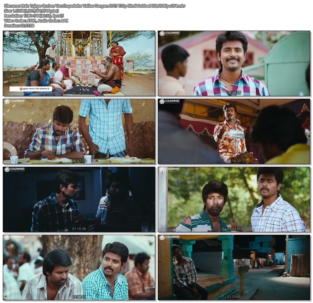 Main Tujhpe Qurban Varuthapadatha Valibar Sangam 2019 720p Hindi Dubbed HQ HDRip | 480p 300MB | 100MB HEVC Screenshot