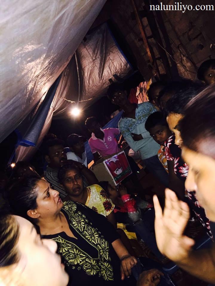 Janaki Wijerathne arrange dry food