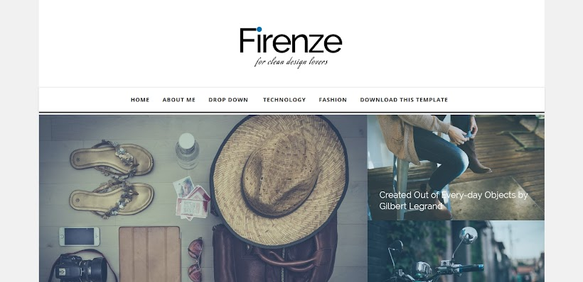 Firenze Free Blogger Template
