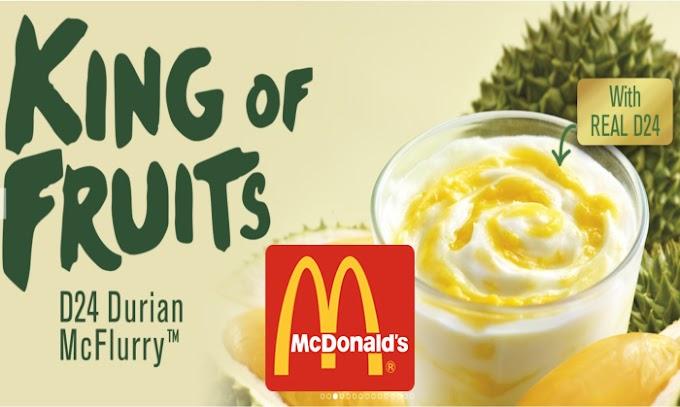 Pertama Kali Dapat Rasa Mcflurry Durian McD Yang Kini Sudah Kembali