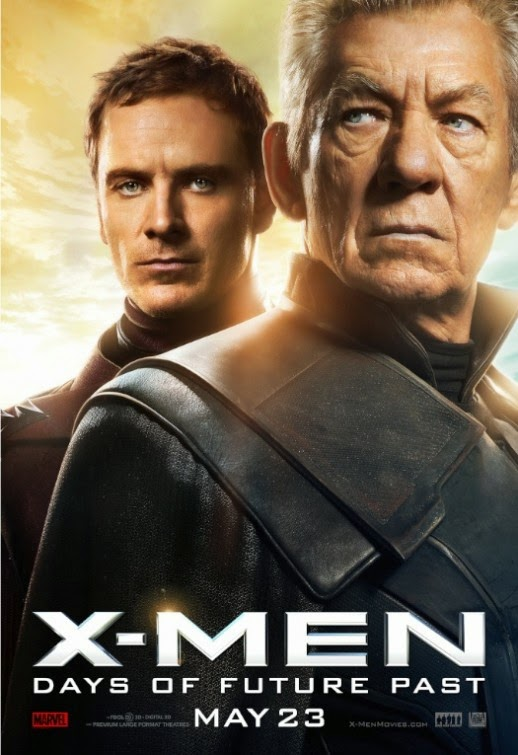 X-Men Days of Future Past Character Movie Poster Set - Michael Fassbender as Magneto & Ian McKellen as Magneto