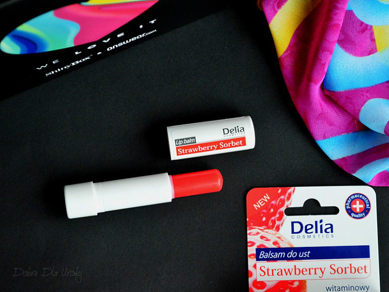 DELIA Witaminowy balsam do ust Strawberry Sorbet