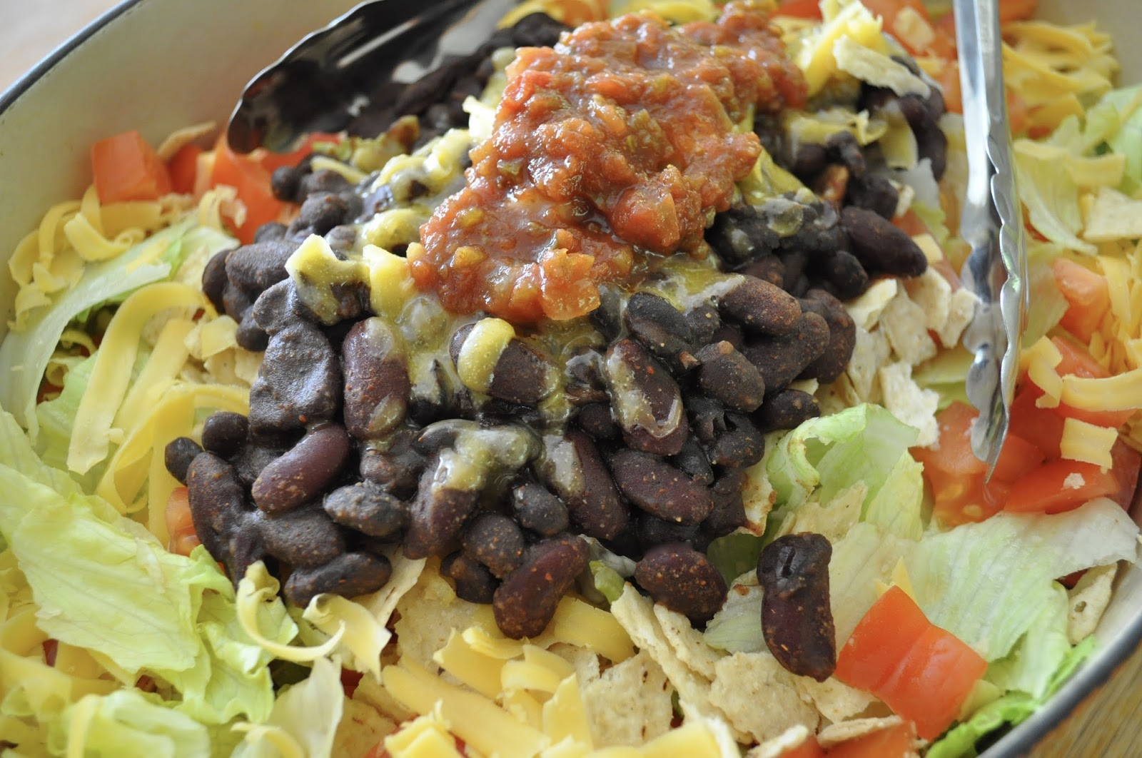 Vegetarian 2 Bean Taco Salad