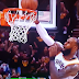 LeBron James misses breakaway tomahawk dunk (Video)