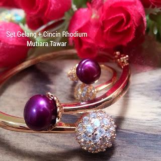 Model Set Perhiasan Mutiara Lombok Air Tawar