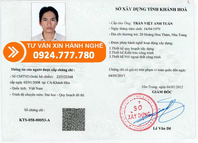 CHUNG CHI HANH NGHE XAY DUNG