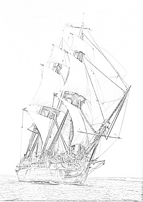 british sailing warship coloring pages - photo#4