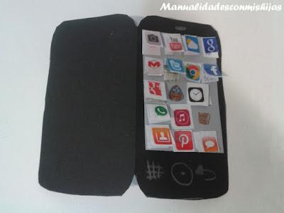 celular con icnos día del apdre