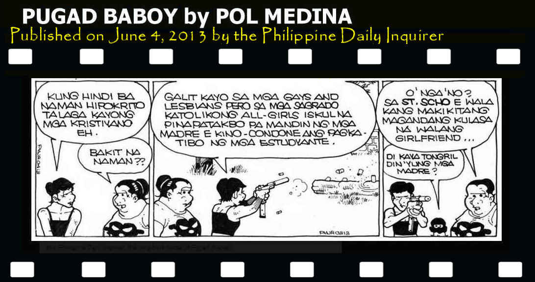 Image result for The controversial pugad baboy comic strip in Philippine Daily Inquirer