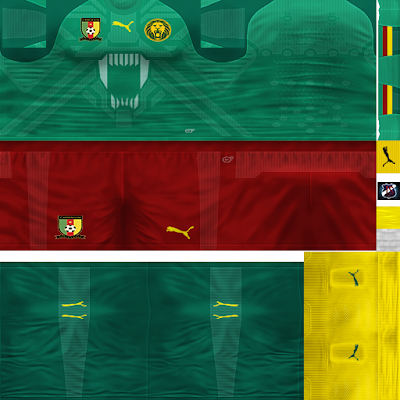 PES 6 Kits Cameroon National Team Season 2018/2019 by JeremySvr