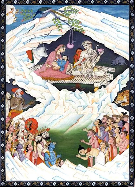 Shiva Family on Mount Kailash