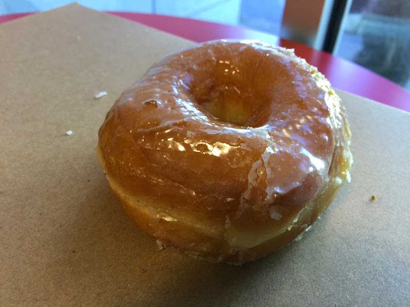 Fresh & hot glazed donut at Donut Day in Beaverton, Oregon