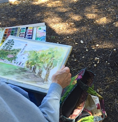 plein air painting Concord Art