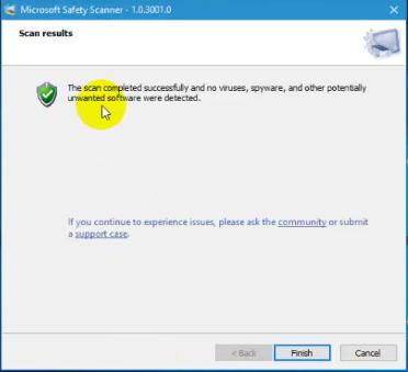 فحص الكمبيوتر وحذف البرامج الضارة والخبيثة مع برنامج Microsoft Safety Scanner