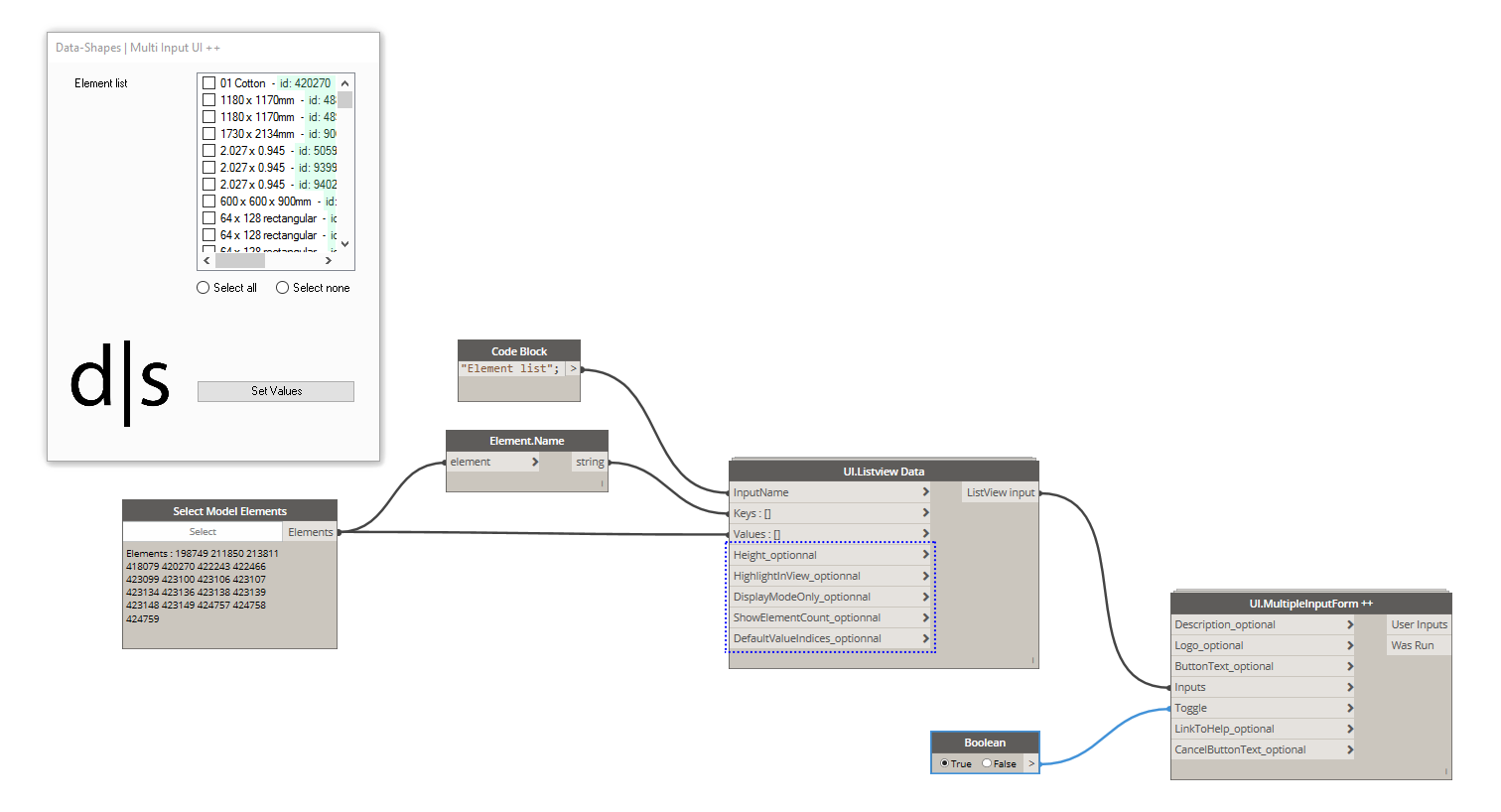 Revit Add Ons Dynamo Package Data Shapes Listview Input Enhancements Block Diagram Manipulation Important Note If You Update The Youll Have To Make A Little On Pre Existing Scrpits Using Uilistview Node