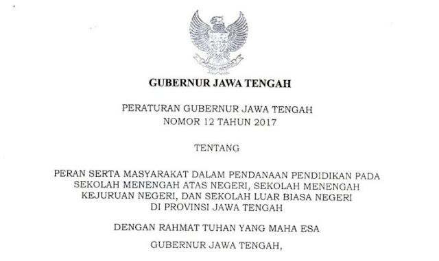 Peraturan Gubernur (PERGUB) Jawa Tengah Nomor 12 Tahun 2017