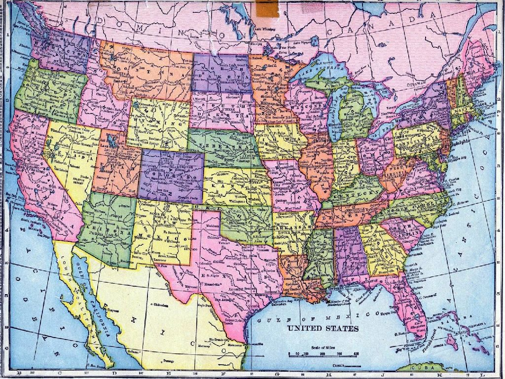 i need a map of the united states of america