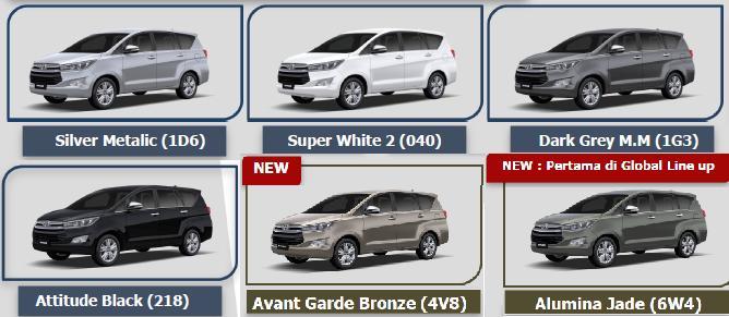 Spesifikasi All New Kijang Innova 2016 Interior Agya Trd 2018 Toyota Auto 2000 Medan Pilihan Warna