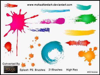 pinceles photoshop salpicaduras pintura