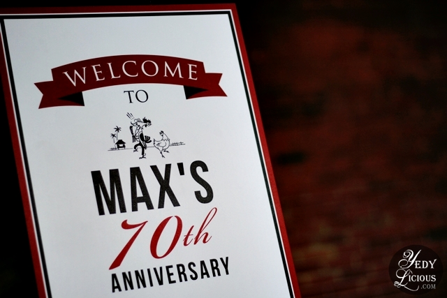 Max's Restaurant 70th Anniversary Celebration Party