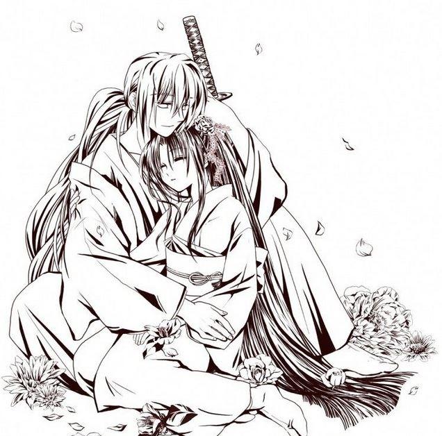 dibujos para colorear de samurai x