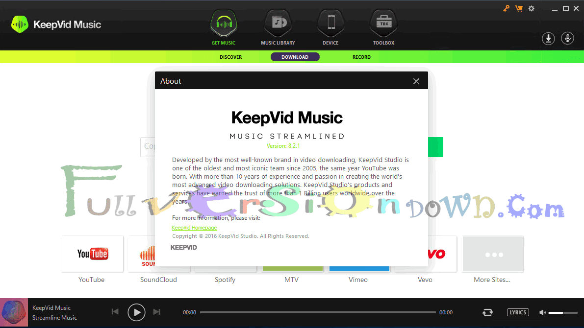 Download KeepVid Music 8.2.1 Full Version