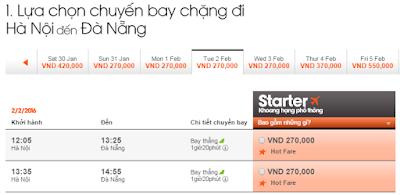 Giá Vé máy bay Hà Nội đi Đà Nẵng Jetstar
