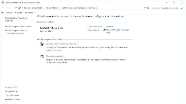 scheda connessioni di rete pc windows