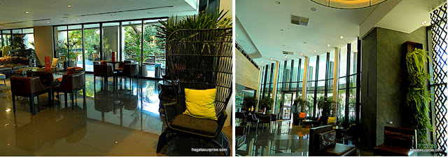 Lobby do Hotel Deville Prime, em Campo Grande, Mato Grosso do Sul