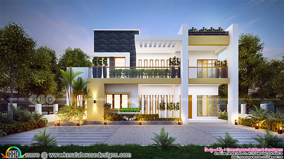 2030 square feet, beautiful 4 bhk contemporary home