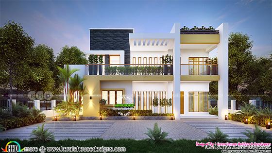 2030 square feet, beautiful 4 bhk contemporary home