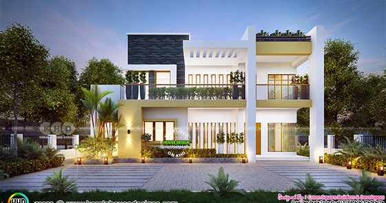 2030 Square Feet Beautiful 4 Bhk Contemporary Home Kerala Home Design And Floor Plans